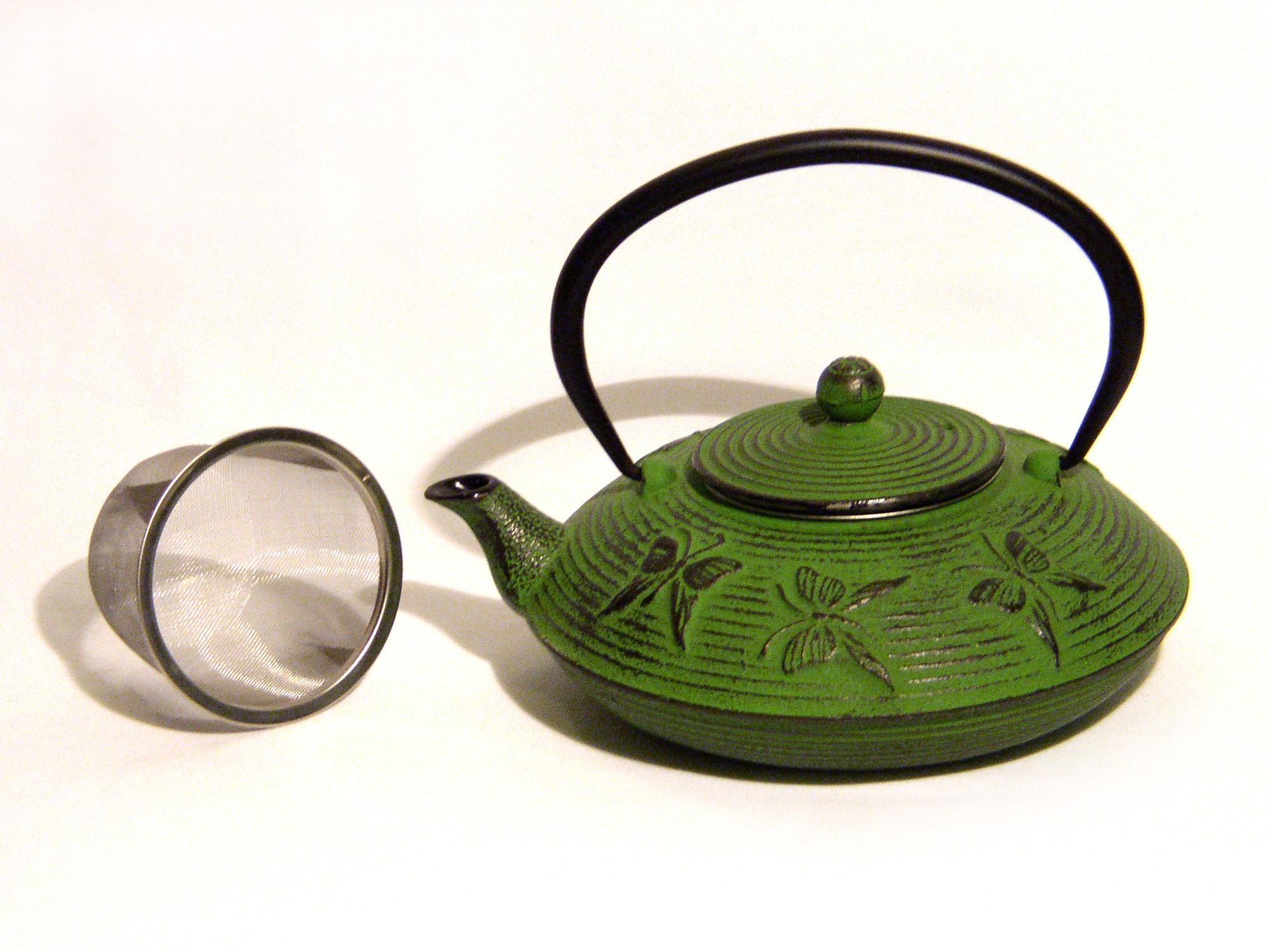 Cast Iron Teapot - Green
