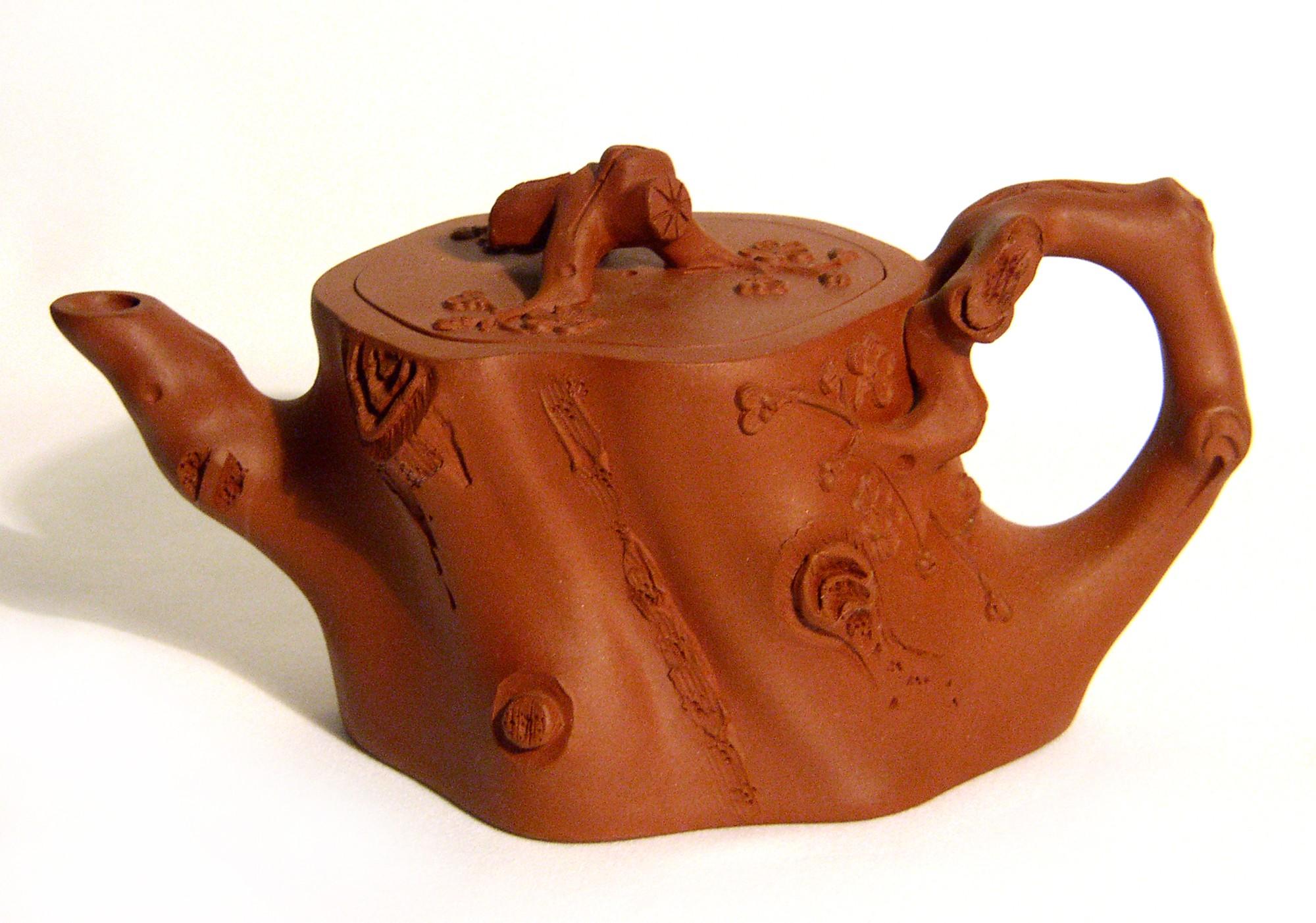 Yixing / Purple Clay Teapot - Tree Trunk