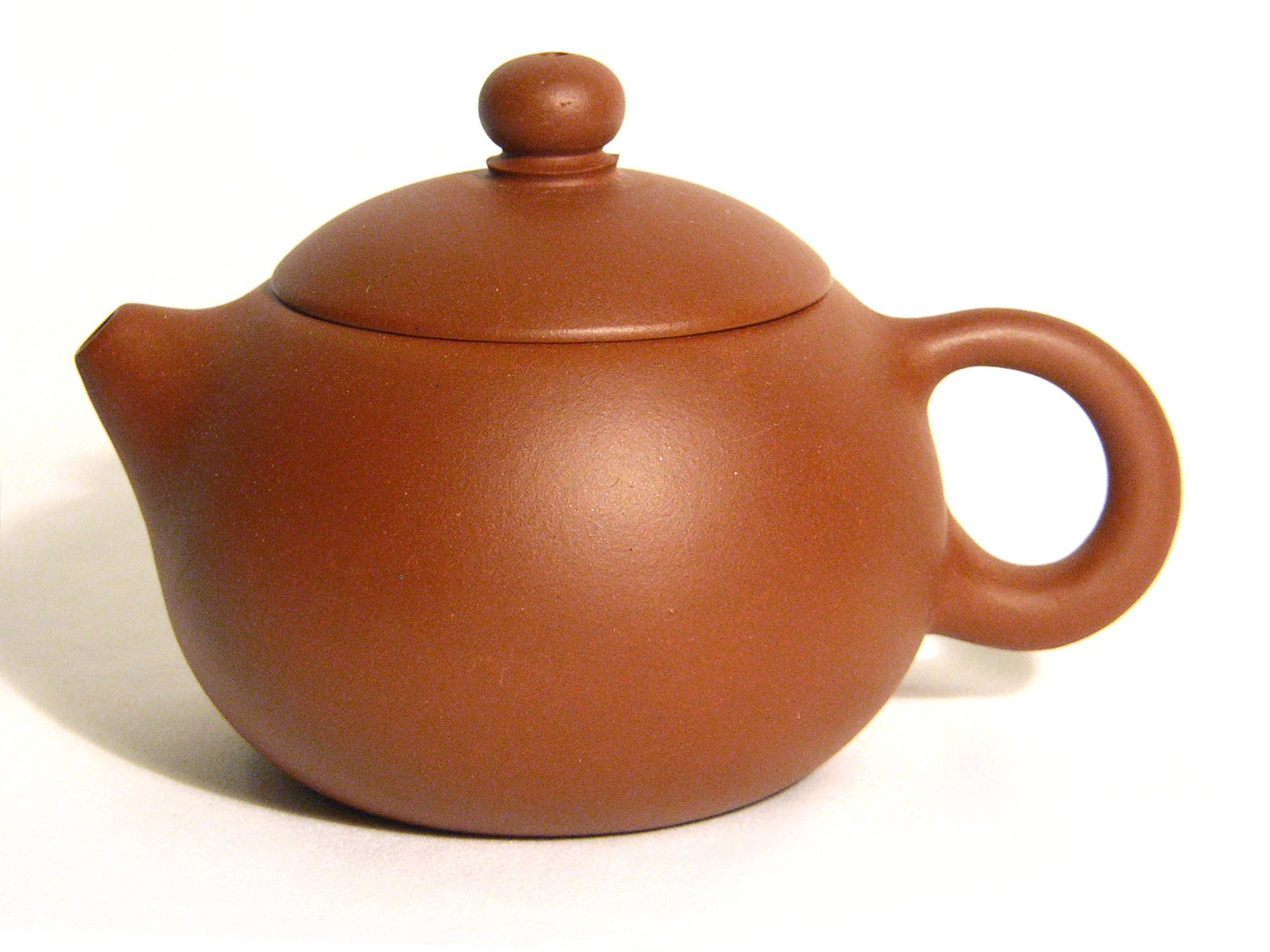 Yixing / Purple Clay Teapot - Round Bubble